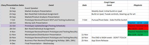1000ft Schedule Important Dates